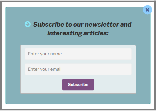 Fig. 16 The modal window with the form
