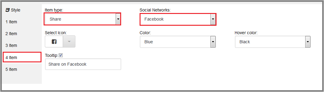 Fig. 18. Create the button «Share on Facebook»
