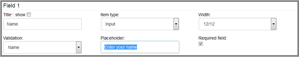 Fig. 4. The user name input field options