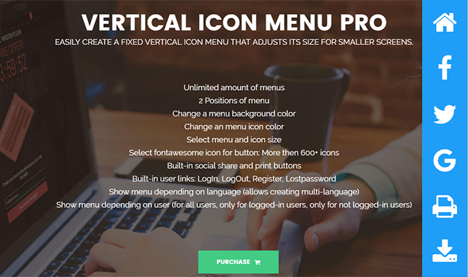 Vertical-Icon-Menu-Pro