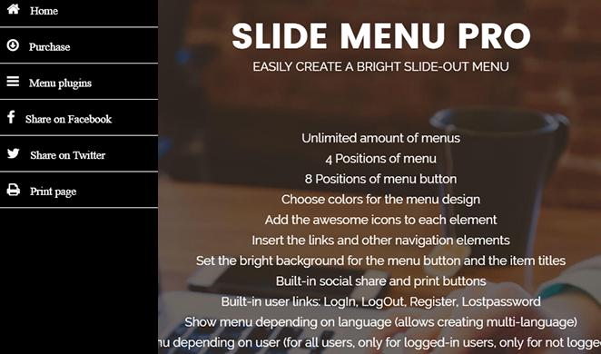 slide-menu-pro