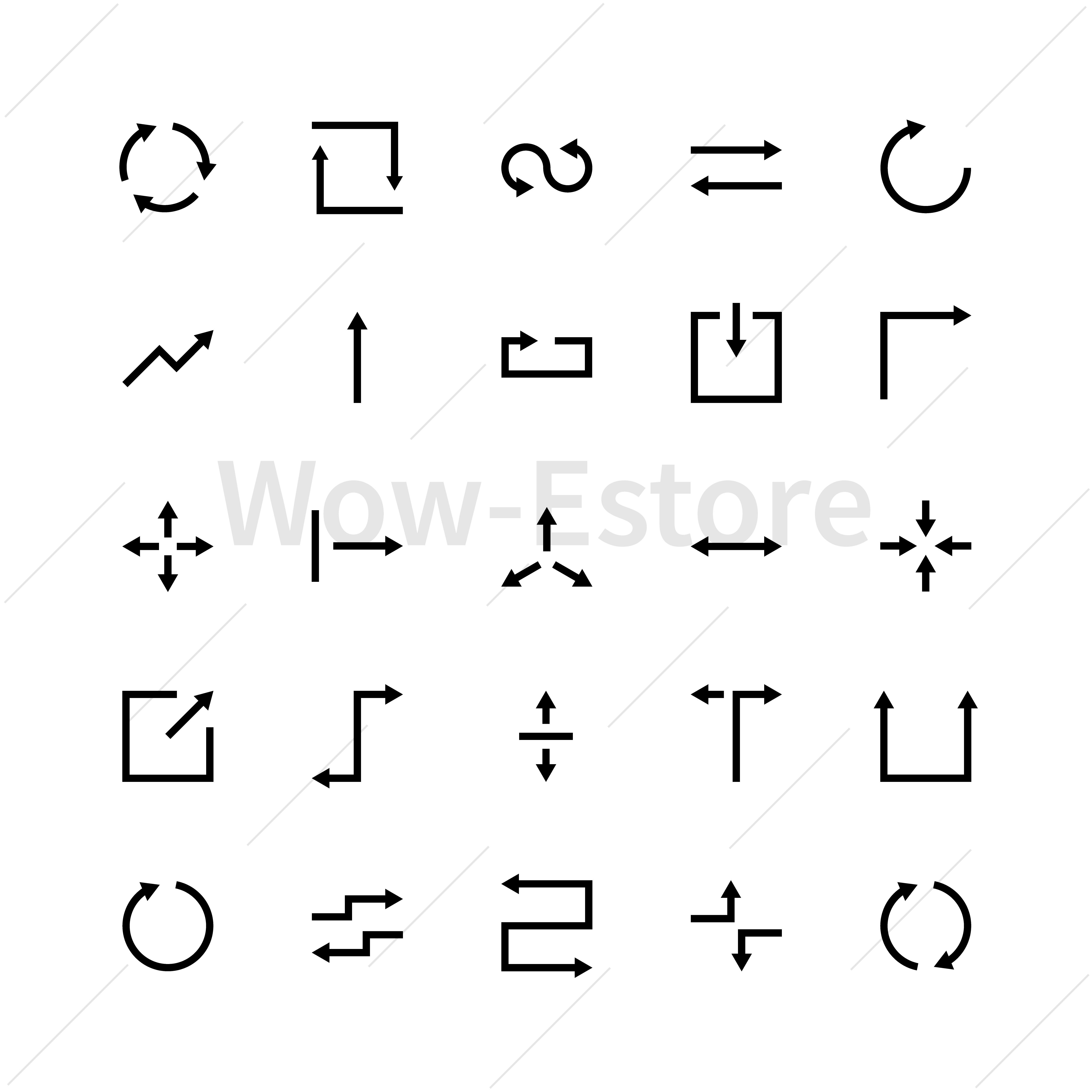 Arrow silhouette icons